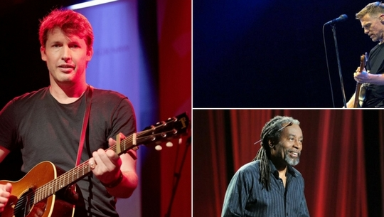 James Blunt, Bryan Adams, Bobby McFerrin
