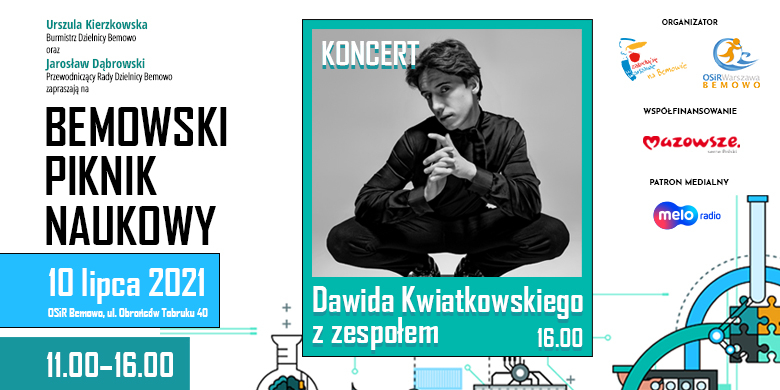 Bemowski Piknik Naukowy i koncert Dawida Kwiatkowskiego