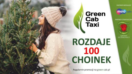 Green Cab Taxi rozdaje choinki w Łodzi