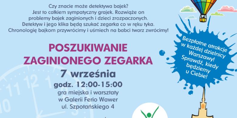 """Kapitan Warszawa zaprasza na grę miejską i warsztaty: """"Poszukiwania zaginionego zegarka"""""""