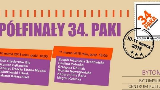 Półfinały 34.PAKI – 10 i 11 marca w Bytomiu