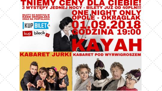 Wyjątkowe promocje na bilety One Night Only 2018 w Opolu