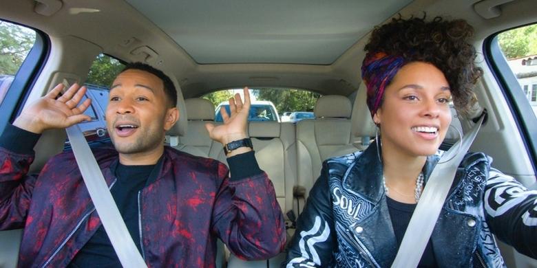 Alicia Keys i John Legend w samochodowym karaoke