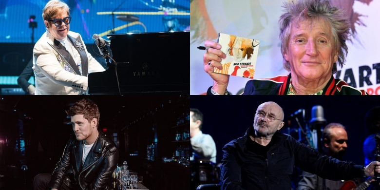 Elton John, Rod Stewart, Michael Buble, Phil Collins